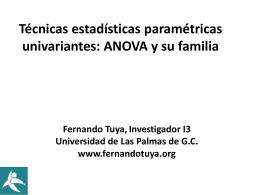 ANOVA - Dr. Fernando Tuya