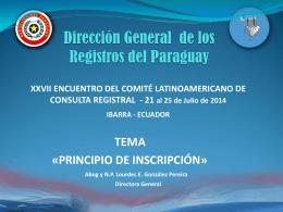 LOURDES GONZALEZ - Dirección Nacional de Registro de Datos