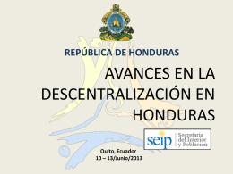 ley de descentralización territorial para el desarrollo