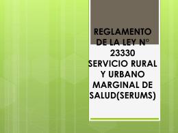 Derechos y obligaciones contractuales en el SERUMS y aspectos