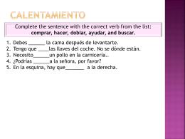 Vocabulario 5A Date Prisa