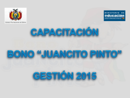Presentación Bono Juancito Pinto 2015