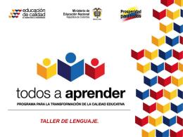 TALLER DE LENGUAJE - Todos a Aprender en Buenavista
