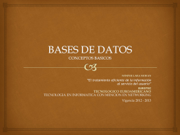 basesdedatos - Tecnológico EuroAmericano