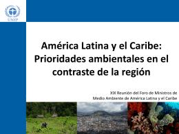 América Latina y el Caribe - Programa de las Naciones Unidas para