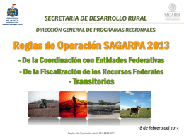 Reglas Sagarpa seis 2013
