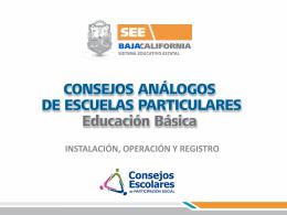 CONSEJOS ANÁLOGOS DE ESCUELAS PARTICULARES