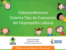 Presentacion Videoconferencia Sistema Tipo de Evaluación