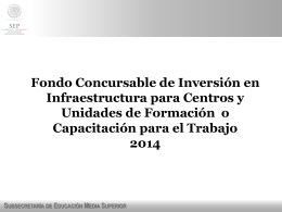 Fondo Concursable de Inversión en Infraestructura para