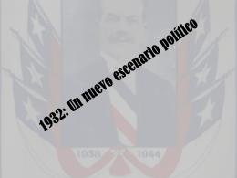 1930: Un nuevo escenario político