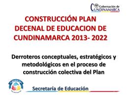 Plan Decenal 2013-2022