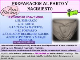 NUEVO GRUPO DE PREPARACION AL PARTO Y