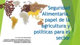 La soberanía alimentaria y su vinculación con la