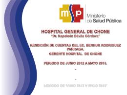 Diapositiva 1 - HOSPITAL GENERAL DE CHONE
