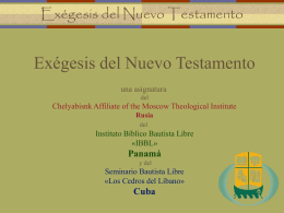 La exégesis en las Epístolas