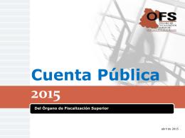 Nuevo para 2015 - Órgano de Fiscalización Superior del Estado de