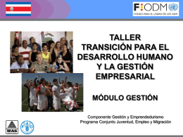 QUÉ ES LA TRANSICIÓN? - Territorios Centroamericanos