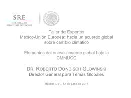 Elementos del nuevo acuerdo global bajo la