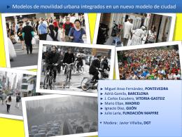 Modelos de movilidad urbana integrados en un nuevo modelo de
