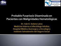 Probable Fusariosis Diseminada en Pacientes con Malignidades