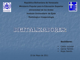 Digitalizadores - Universidad de Los Andes