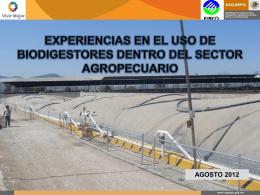 Experiencias en el uso de Biodigestores dentro del Sector