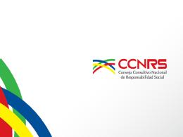 Slide 1 - Consejo Consultivo Nacional de Responsabilidad Social
