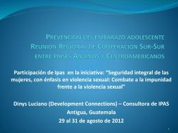 Prevención del embarazo adolescente Reunión Regional de