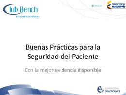 guía técnica de buenas prácticas de seguridad de pacientes