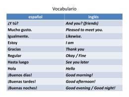 Vocabulario - MsMohamedQC