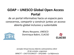 GOAP * UNESCO Global Open Access Portal
