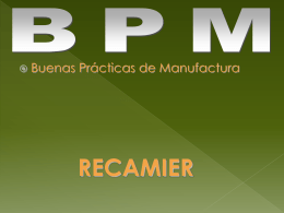 Buenas prácticas de manufactura cosmética (BPM)