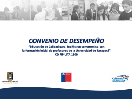 Presentación UTA - Universidad de Tarapacá