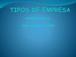 TIPOS DE EMPRESA - NEGOCIOS INTERNACIONALES I.E. José