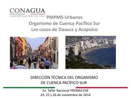 2. Presentación de PMPMS Urbanos del Organismo de