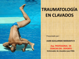 TRAUMATOLOGÍA EN CLAVADOS