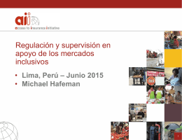 Presentación Michael Hafeman Módulo de Seguros Inclusivos