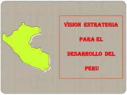 VISION ESTRATEGICA DE PERU