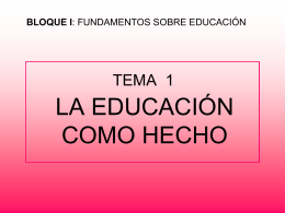 TEORIA DE LA EDUCACIÓN - tendencias-contemporaneas