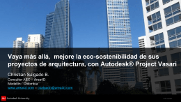 Que es Autodesk® Project Vasari