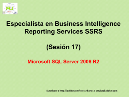 Clase 17 BI MSQL Server 2008 Reporting Services