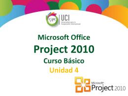 Microsoft Project 2010 Crear una Línea Base