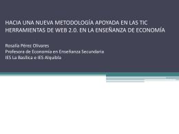 Herramientas WEB 2.0 en la enseñanza de Economía
