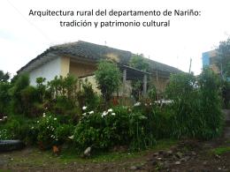 Arquitectura rural del departamento de Nariño