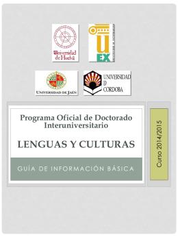 Programa Oficial de Doctorado CIENCIA Y TECNOLOGÍA