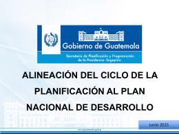 Alineación del cliclo de la Planificación al Plan Nacional