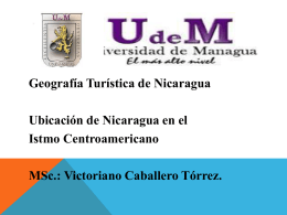 I Geog. Tur. de Nic. - Profesor Victoriano Caballero