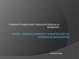 Diseño, Dimensionamiento y Construcción de Sistemas de