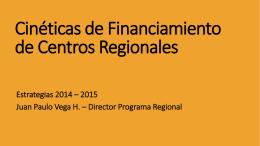 Presentación Programa Regional, por Juan Paulo Vega.