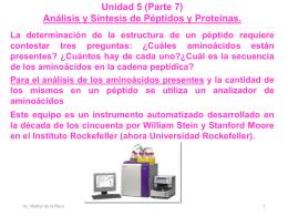 Unidad 5 (Biomoléculas, Aminoácidos P.7 2S 2015 USAC)